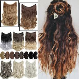 """16-24"""" Halos Hidden Wire In Hair Extensions Invisible Natura"""