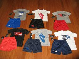 Nike 2 Piece T-Shirt & Shorts Outfit  Set  Boys Size  4/ 5/