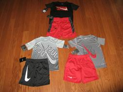 Nike 2 Piece T-Shirt & Shorts Outfit Set Boys Size 4/5/6/7 N