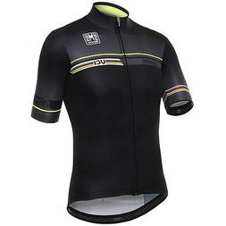 2017 UCI Maglia IRIDE CYCLING JERSEY in Black Made in Italy