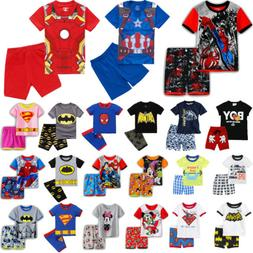 2PCS Kids Boys Short Sleeve T-shirt + Shorts Pants Casual Ou