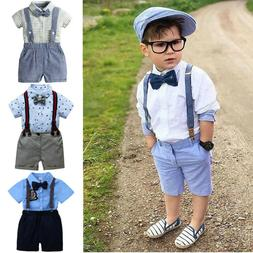 2PCS Toddler Kids Baby Boy Outfit Set Clothes Shirt+Shorts P
