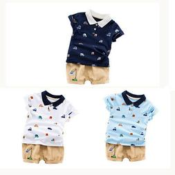 2pcs toddler kids baby boys summer outfits