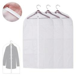 """3 Garment Bag Travel Suit Dress Storage 53"""" Clear Cover Full"""