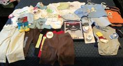 35 NEW w Tags Baby BOY Clothes + Accessories LOT 0-6 Months