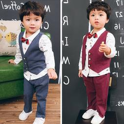 3PC Formal Suits For Kids Boys Party Clothing Sets Baby Boy
