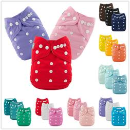 3PCS ALVA Baby Cloth Diapers Reusable Washable Boy Girl Pock