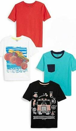 4 - Spotted Zebra Boy's Toddler Short-Sleeve T-Shirts 3T
