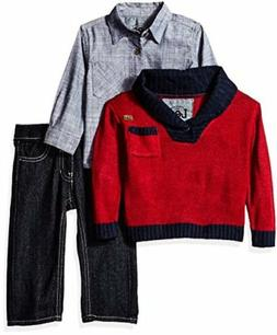 Lee  Childrens Apparel LEE Baby Boys Sweater Pull Over 3 Pie