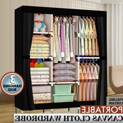 "71"" Portable Closet Wardrobe Clothes Rack Storage Organizer"