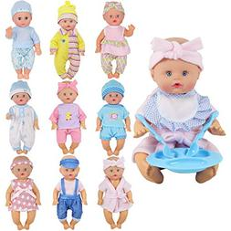 9 Sets for 9-10-11 Inch Baby Doll Clothes Reborn Newborn Out