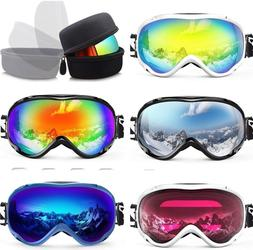 Anti-fog and 100% UV Protection Ski Snowboard Snow Goggles f