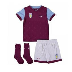 Aston Villa Childrens Football Full Kit Kids Under Armour Ho