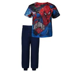 Marvel Avengers Spiderman Boys' Mesh T-Shirt & French Terry