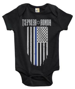 Baby Bodysuit - Thin Blue Line Police Baby Clothes for Infan