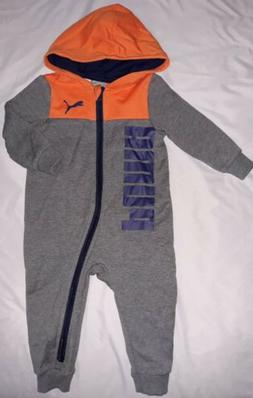 PUMA Baby Boy 12M 12 Month Full Zip Hooded Coverall Jumpsuit