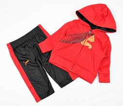 Puma Baby Boy 2 Piece Set Hoody Pant Suit Red Black Sizes: 0