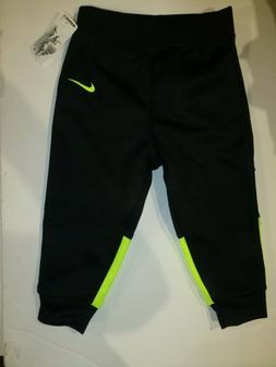 Baby Boy Nike Black and Volt Sweat Pants New Size 18 months