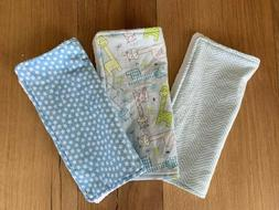 Baby Boy Burp Cloths Set of 3 - Flannel Front & Terry Cloth