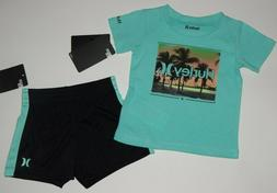 Baby boy clothes, 12 months, Hurley 2 piece set