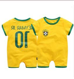 Baby Boy Girl World Cup Football Soccer Home Jersey Jumpsuit