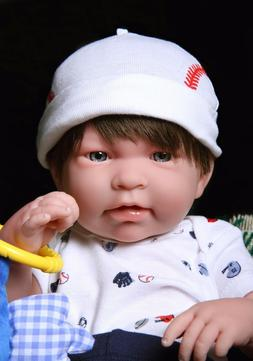 """Baby Boy Real Reborn Doll Clothing Berenguer 17"""" inches Soft"""