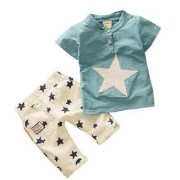 Baby Boys 2019 Summer Clothing 2pc Short Sleeve Star T-shirt