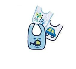 Gerber Baby Boys 3-Pack Blue Plane/Cars Bibs BABY CLOTHES SH