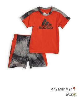 Baby Boys Size 12 18 24 Months Adidas Shirt Shorts Outfit Se
