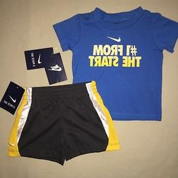 Baby Boys Size 12 M Months Nike Shirt Shorts Outfit Set Athl