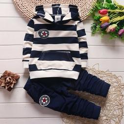 Baby Boys Tracksuit Kids Boys Striped Clothing Sets For Infa