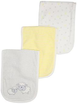 Gerber Baby Girls 3 Pack Terry Burp Cloth, Lil' Lamb, One Si