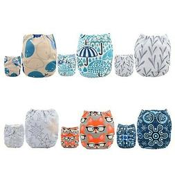 ALVABABY Pocket Cloth Diapers Reusable, Washable Adjustable,