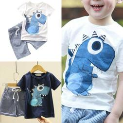 Baby Toddler Boys Kids Summer Clothes Casual T Shirt Tops +