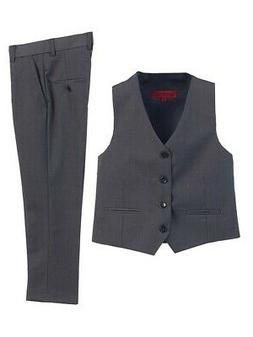 Gioberti Big Boys Charcoal 2 Piece Vest Pants Formal Outfit