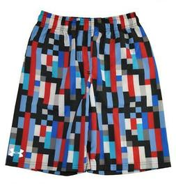 Under Armour Big Boys Red & Multi Color Printed Swim Short S