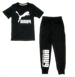 Puma Big Boys'  Terry Cloth Joggers and T-Shirt Set
