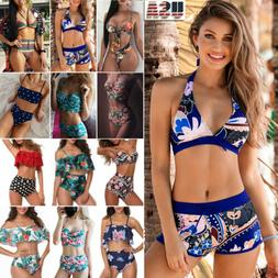Bikini Set Women Swimwear Push-up Bra Boy Shorts Swimsuit Be