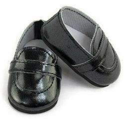 """Black Loafer Dress Shoes Boy made for 15"""" Bitty Baby & Bitty"""