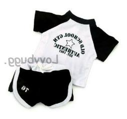 "Black White Soccer Uniform for American Girl or Boy 18"" Doll"