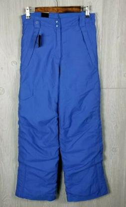 black youth boys ski winter pants royal