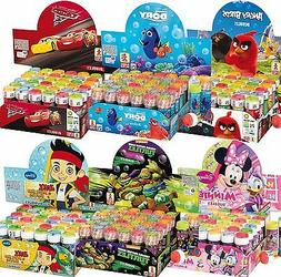 Box of 36 or 6 Girls Boys Bubbles Party Bag Supplies Stockin