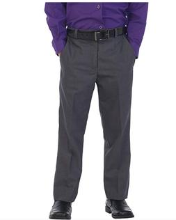 Gioberti Boys Adjustable Waist Flat Front Dress Pant Gray Ch