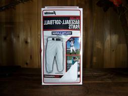 FRANKLIN BOYS BASEBALL PANTS SIZE YOUTH LARGE WHITE KIDS SPO