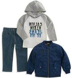 boys blue jacket 3pc pant set size