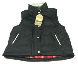 Gioberti Boys Buttoned Full Zip Lined Solid Padded Vest Size