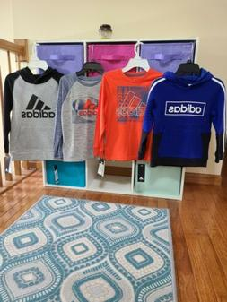 Boys Adidas Clothes-size small 6-7 lot of hoodie sweatshirts