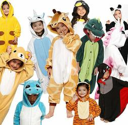 Boys/Girls Kid Pajamas Kigurumi Halloween Cosplay Animal Cos