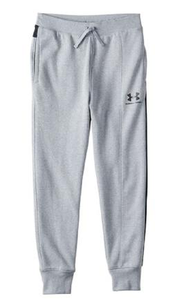 Under Armour Boys Grey Rival Blocked Jogger Sweat Pants New