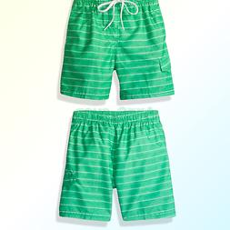 Kanu Surf Boys' Line Up Stripe Quick Dry Beach Board Shorts